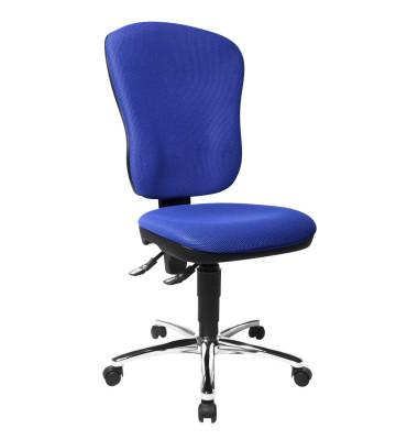 Bürodrehstuhl Steel Point 80 ohne Armlehnen blau