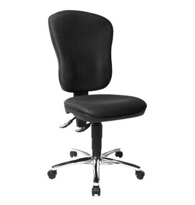 Bürodrehstuhl Steel Point 80 ohne Armlehnen schwarz