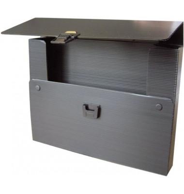 Zeichenkoffer A4 sw 380x50x280mm