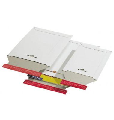 Versandtasche 235x310x30 mm A4 ohne Fenster Vollpappe weiß 1 Stück