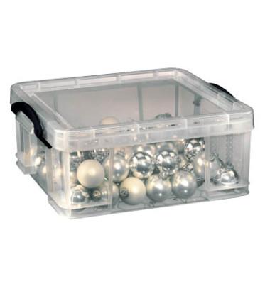 Aufbewahrungsbox 18C transparent 18 Liter 480 x 390 x 200mm