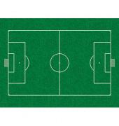 Bodenschutzmatte PhotoEdition Fußballfeld 90 x 120 cm Form O für Hartböden & Teppichböden Makrolon