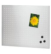 Magnettafel 66752, 60x50cm, Edelstahl gelocht, silber