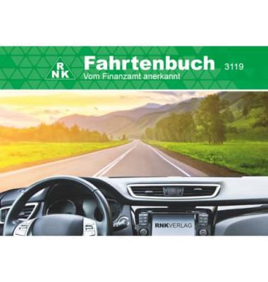 Fahrtenbuch für PKW Premium/3119PF DIN A6 quer schwarz Lederimitat 32 Blatt