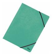 Eckspannmappen Vario/110700GN A4 grün Colorspan-Karton 390g/qm