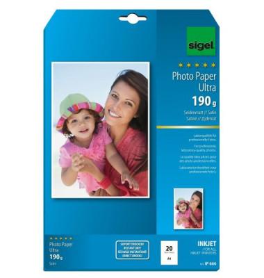 InkJet-Ultra-Photo-Papier DIN A4, Nr. IP666 190 g/qm 20 Blatt