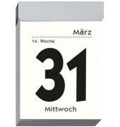Tagesabreißkalender 301 1Tag/1Blatt 40x60mm 2021