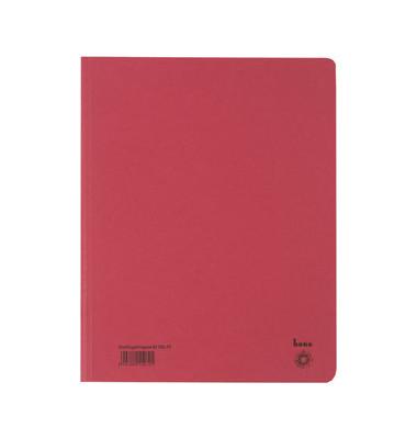 Einschlagmappe 81700 A4 rot 250g 3 Klappen bis 250 Blatt