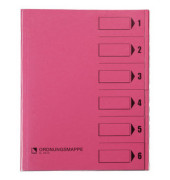 Ordnungsmappen A4/83600 rosa