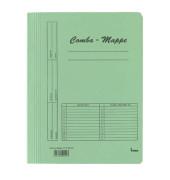 Schnellhefter Comba-Mappe 111000 A4 grün 250g Karton kaufmännische Heftung bis 250 Blatt