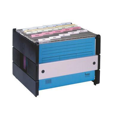 Hängemappenbox Vetro Mobil 117400 270x360x320mm schwarz Alu/Kunststoff