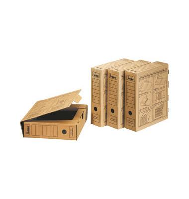 Archivboxen 096900 A4 natronbraun 33x8x29cm