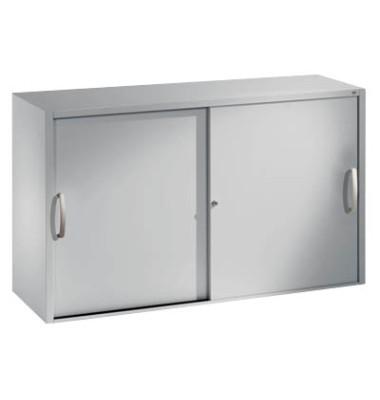 Aktenschrank 2045-00, Stahl abschließbar, 2 OH, 120 x 79 x 40 cm, lichtgrau