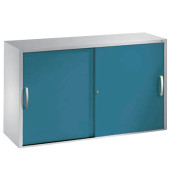 Aktenschrank 2045-00, Stahl abschließbar, 2 OH, 120 x 79 x 40 cm, blau/lichtgrau