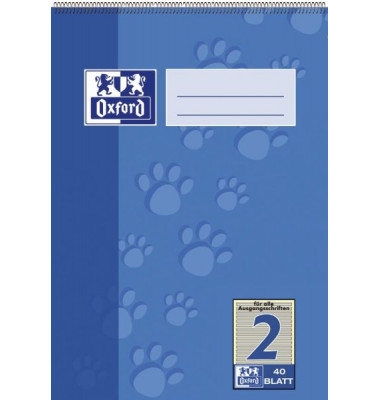 Spiralschulblock/384504002 DIN A5 2. Schuljahr 90 g/qm Inh.40 Blatt