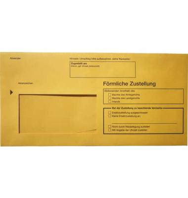 Postzustellungsumschläge 2044 Din Lang mit Fenster gelb 100 Stück