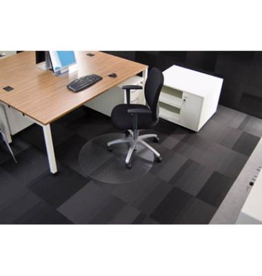 Bodenschutzmatte Rollsafe Serie 13 Ø 90 cm Form R für Teppichböden transparent Makrolon