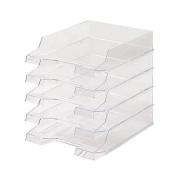 Briefablage H61014 Brillant A4 / C4 transparent stapelbar 5 Stück