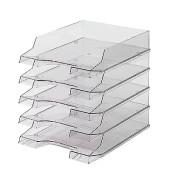 Briefablage H61014 Brillant A4 / C4 grau-transparent stapelbar 5 Stück