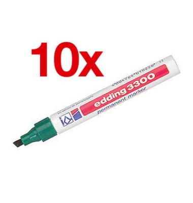 Permanentmarker 3300 grün 1-5mm Keilspitze 10 Stück
