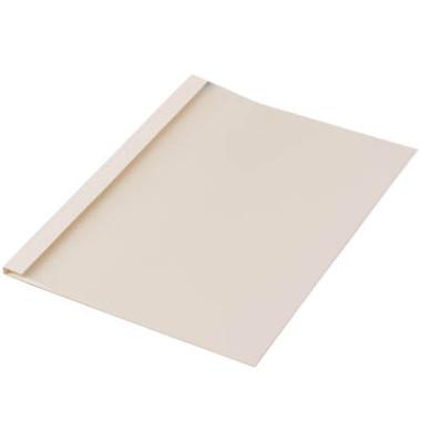 Thermobindemappen Leinenstruktur beige 6,0 mm 40-55 Blatt