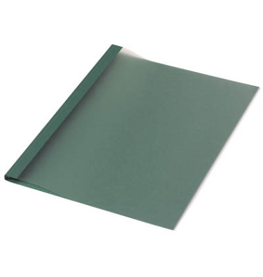 Thermobindemappen Leinenstruktur dunkelgrün 6,0 mm 40-55 Blatt