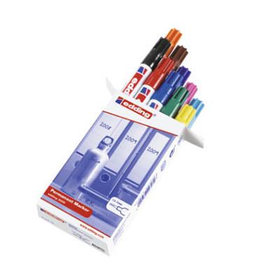Permanentmarker 3000 10er Etui farbig sortiert 1,5-3mm Rundspitze