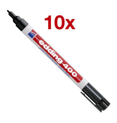 Permanentmarker 400 schwarz 1mm Rundspitze 10 Stück