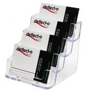 Visitenkartenhalter DE70841 99x35x45mm glasklar 4 Fächer