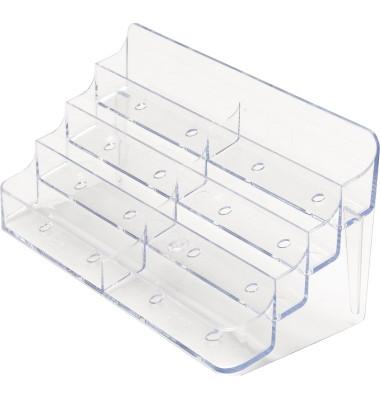 Visitenkartenhalter DE70801 199x89x98mm glasklar 8 Fächer