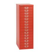 Schubladenschrank MultiDrawer™ 39er Serie L3915870, Stahl, 15 Schubladen (Vollauszug), A4, 27,9 x 86 x 38 cm, rot