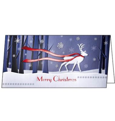 Weihnachtskarten Winter`s Eve Din Lang 10 Stück inkl. weißen Umschlägen DS017