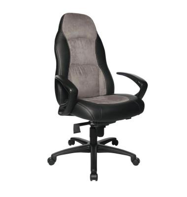 Chefsessel Speed Chair mit Armlehnen grau/schwarz