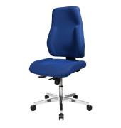 Bürodrehstuhl Point 91 ohne Armlehnen blau