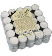 Teelichter 13302 Ø 37mm weiß Paraffin Inh.100