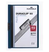 Klemmhefter DURACLIP 60 2209-28, A4, für ca. 60 Blatt, Kunststoff, blau