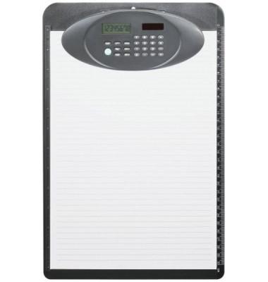 Klemmbrett A4 mit Solarrechner sw