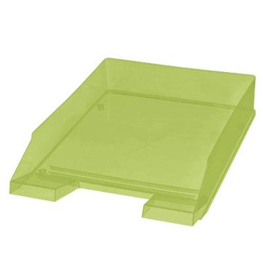 Briefablage H23615 A4 / C4 grün-transparent stapelbar 5 Stück
