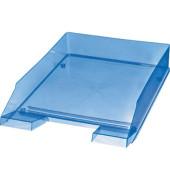 Briefablage H23615 A4 / C4 blau-transparent stapelbar 5 Stück