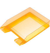 Briefablage H23615 A4 / C4 orange-transparent stapelbar 5 Stück