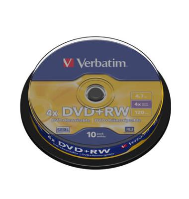 DVD+RW 4,7GB 4X 10ER