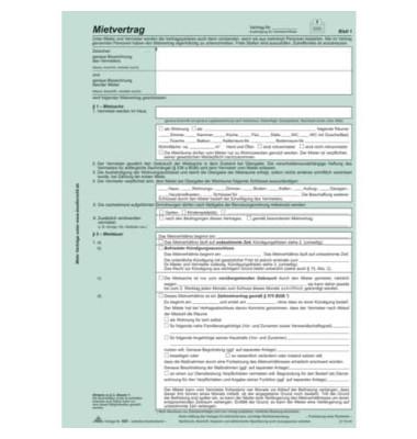 Mietvertrag Universal A4 SD 25St