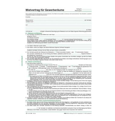 Mietvertrag Gewerberaum A4 5Bl 10St