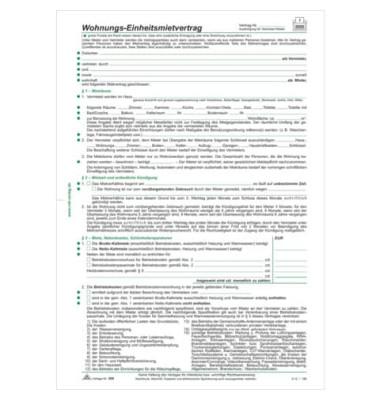 Einheitsmietvertrag A4 4Bl 10ST