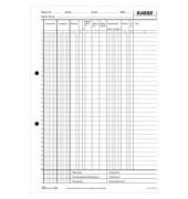 Kassenbuch EDV A4 2x40Bl