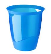 Papierkorb TREND 16 Liter blau transluzent