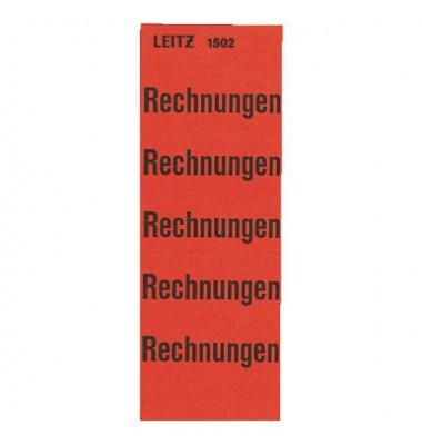 Inhaltsschilder 1502 Rechnungen rot 60x25,5mm selbstklebend 100 Stück