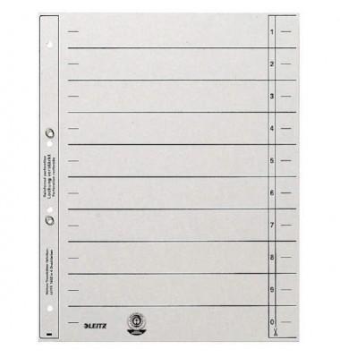 Trennblätter 1654 A4 grau 200g 100 Blatt geöst