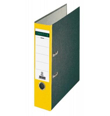 22012 Ordner A4 Wolkenmarmor Rücken gelb 80mm breit