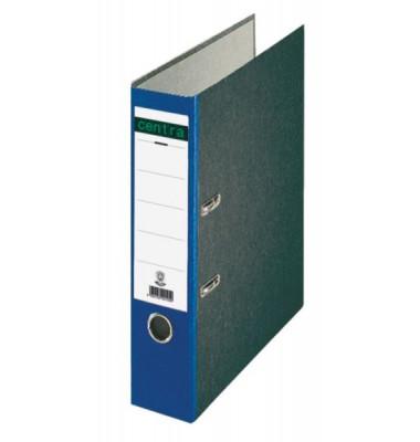 22012 Ordner A4 Wolkenmarmor Rücken blau 80mm breit